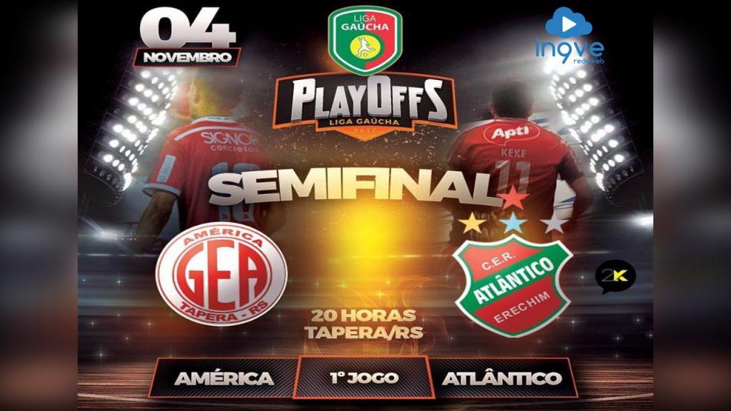 Gols da Semi Final da Liga Gaucha de Futsal entre América X Atlântico